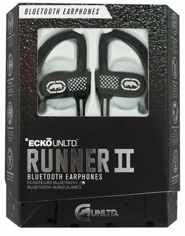 Ecko Unltd EKU-RNR2-BK Bluetooth Runner2 Earhook Earbuds with Microphone (Black) 1