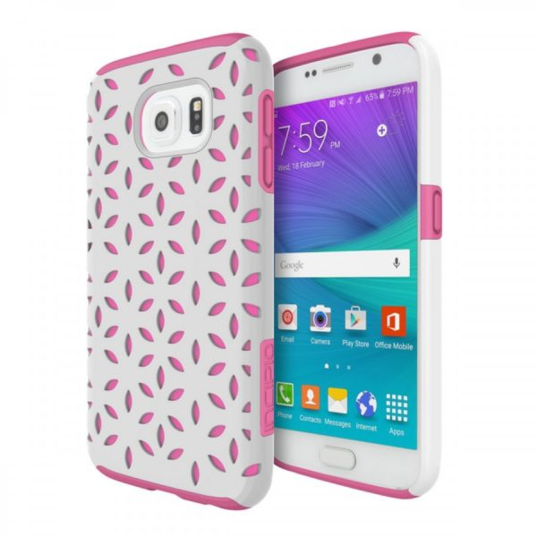 Incipio DualPro Detail Dual Layer Case for Samsung Galaxy S6 White / Pink 1