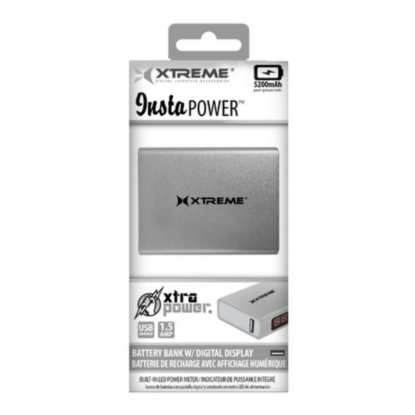 XTREME Insta POWER 5200mAh Battery Bank with digital display 1