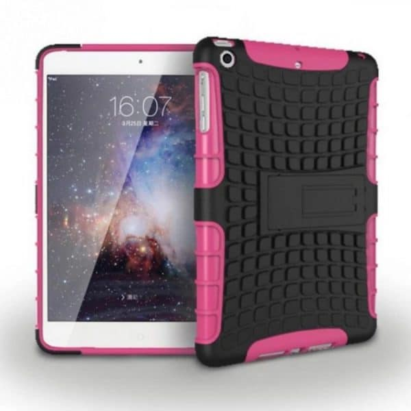 IEssentials iPad Mini 1/2/3 Rugged Stand Case with Stylus - Pink 1