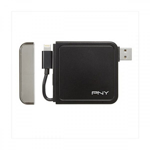 Pny L1500 mAH w/integrated MFI Lightning Cable Power Pack 1